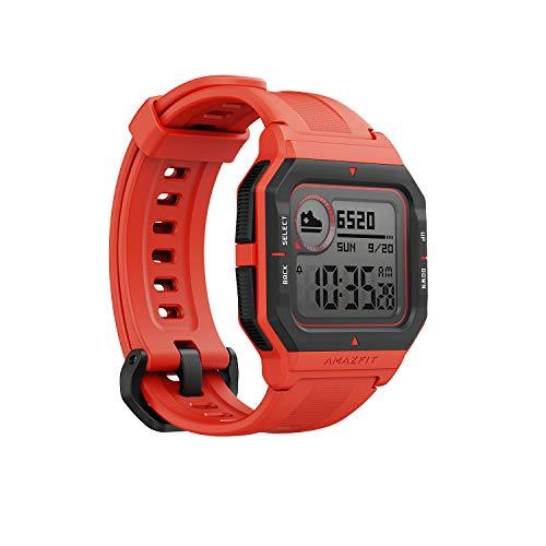 Amazfit Neo Smart Watch Reloj Inteligente 28 Días Batería cinco ATM Sensor Seguimiento Biológico Frecuencia Cardíaca iOS™ & Android™ (Rojo)