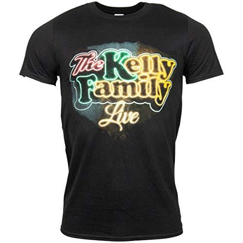 The Kelly Family Neon Logo T-Shirt schwarz (XL)
