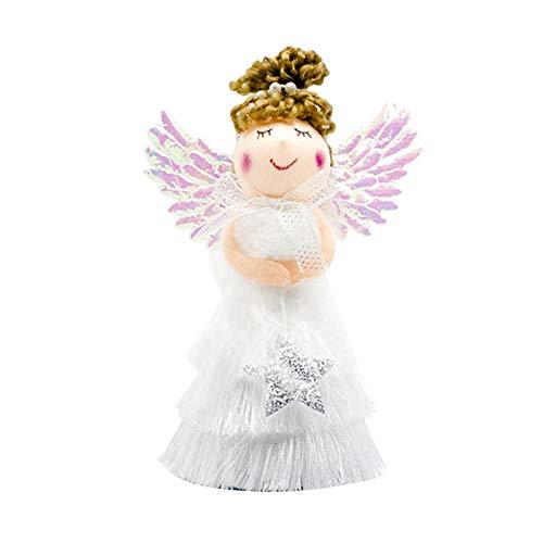 Takefuns Weihnachts-Quaste, Rock, Engel, Mädchen, Puppe, Anhänger, niedliche Weihnachtsbaumspitze, hängende Dekorationen für Party, Neujahr, Geburtstag, Weihnachtsgeschenk für Kinder