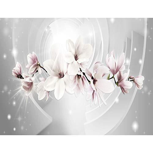 Fototapete Blumen Magnolien 528 x 280 cm - Vlies Wand Tapete Wohnzimmer Schlafzimmer Büro Flur Dekoration Wandbilder XXL Moderne Wanddeko - 100% MADE IN GERMANY - 9235015a