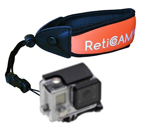 RetiCAM Floating Wrist Strap for Waterproof Cameras - Premium Float for Underwater Devices - WS10, Neoprene/Foam, Orange