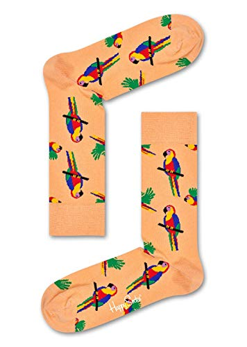 Happy Socks Damen Parrot Socken, Orange, 4/7/2018 (Herstellergröße: 36-40)