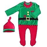 SOIMISS Navidad Bebé Elfo Pies Mameluco Infantil Mono para Bebé Niños para Trajes de Fiesta de Navidad