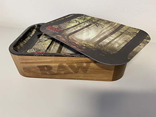 RAW 19361 Cache Box mit Deckel Tray Cover Forest Small-Plus Kostenlosen Sticker, Aluminium