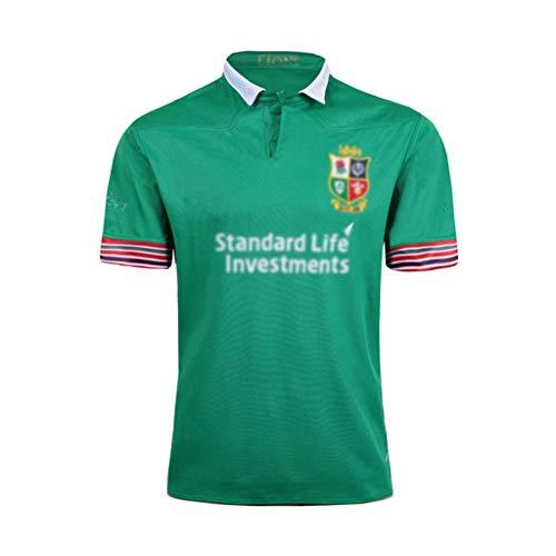 GXHLLYZY Rugby-Sport-T-Shirt Irish Jersey Grünes Polo-Shirt Lässiges Sport-T-Shirt Herren Revers Kurzarm (Size : XXL)