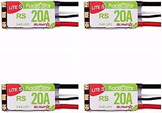 4pcs RacerStar 20A Brushless ESC Lite 2-4S MultiShot BLHeli BB2 DSHOT600