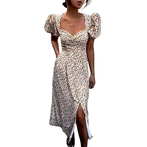 2021 Fashion Trend Women Summer Floral Dress Adults Slim Fit Short V-Neck Boho Stylish Casual Dress