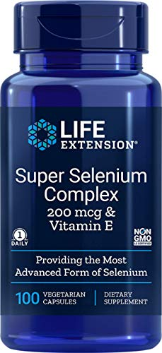 Life Extension, Super Selenium Complex (Selen) mit Vitamin E, 100 Vegetarische Kapseln