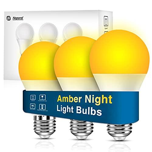 Neporal Amber Light Bulbs, 9W 60W...