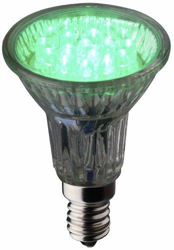Brilliant 1668334 LED Reflektorlampe R50 grün E14 1,2W 18 LEDs (Blister)