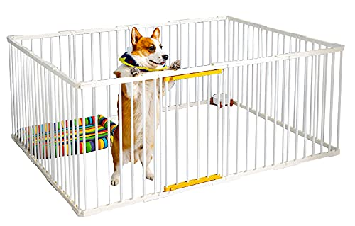 COFER ペットサークル 犬 サークルケージ 小型 おしゃれ ペットフェンス ドア付き DIY ゲージ ペット柵 室内 ドッグサークル10 面 簡単組み立て 工具不要 アウトドア 留守番 取り付け簡単 シンプル 接続式 屋外 中型犬 レイアウト自由 犬用