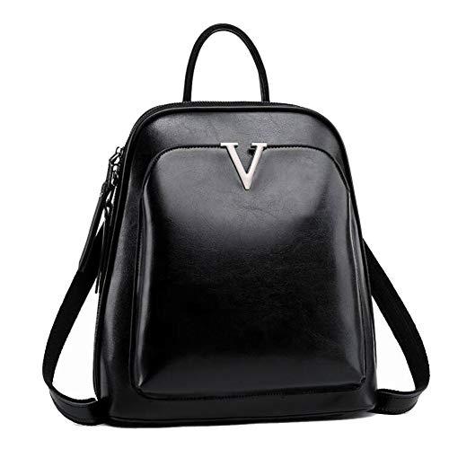 Rucksack Damen Rucksack Leder Umhängetasche Rucksäcke Frauen Schultertasche Tasche Rucksack Handtaschen 2 in 1 Multifunktionaler Rucksack für iPhone, iPad und Samsung Tablet (schwarz)