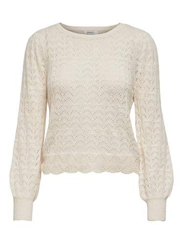 Only ONLMALOU L/S Pullover Knt, Ballerino di Nuvola, XL Donna