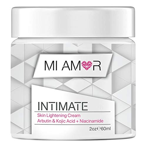 Premium Intimate Skin Lightening Cream - Mi Amor - Natural Whitening - Bleach your Buttocks, Privates, Knees, Elbows, Underarms, Thighs or Face (2oz)