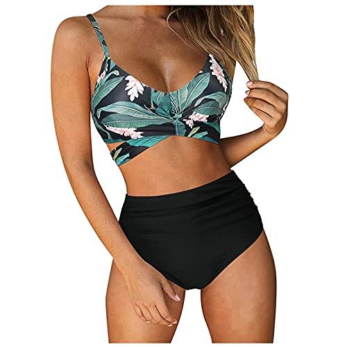 Rouped Traje de baño Mujer,Bikinis Mujer Sexy Push up,Bikinis Braga Alta Mujer Braga altatalla Grande,Trajes de baño para Mujer 2021,Moda Mujer 2021,RY1101