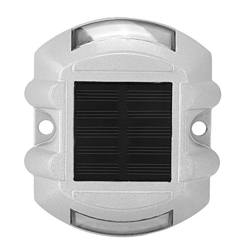 Vipxyc Aluminio Fundido Luz de Poste de Carretera Luces solares de Cubierta Luces de Advertencia al Aire Libre con energía Solar Luces para calzada Acera