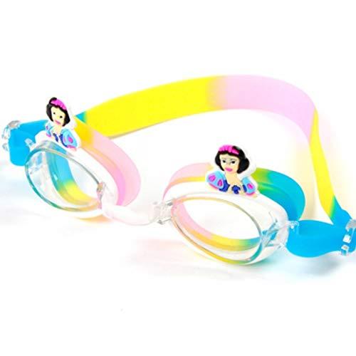Fusanadarn Cartoon zwembril voor kinderen met oordopjes zwembril voor Unisex kinderen