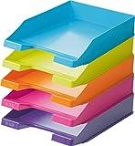 Han Briefablage A4 (1 Karton = 10 Stück) modern colours je 2 orange, hellblau, pink, hellgün und lila