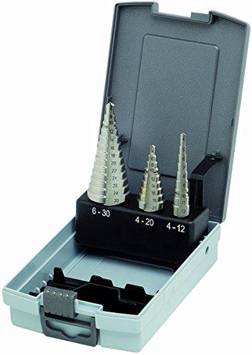 KEIL Metallbohrersortiment HSS Stufenbohrer, 3-teilig, Größe 1+2+3, in RoseBox, 325 500 103