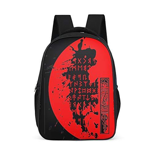 Wikinger-Spiegel Süße Rucksack Schultasche für Mädchen Jungen Travel Light Weight Reisetasche Mit Muster Schulranzen