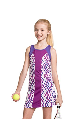 Girls Tennis Sleeveless Dress with Shorts Sparkling Grape/Purple S