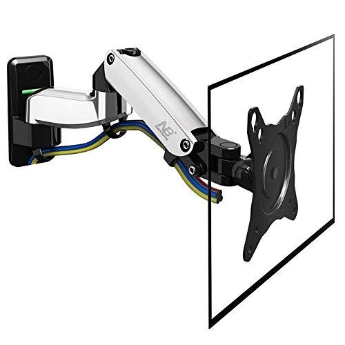 YLB Montajes de Pared de TV 17-27 Pulgadas Televisión Monitor Soporte Soporte Consiste en un Elevador de Gas resortes Rotación de Movimiento Completo Aluminio Brazo Largo TV Soporte de Pared