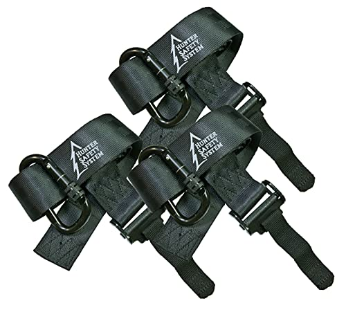 Hunter Safety System Quick-Connect Tree Strap for Tree-Stand Hunting, 3-Pack