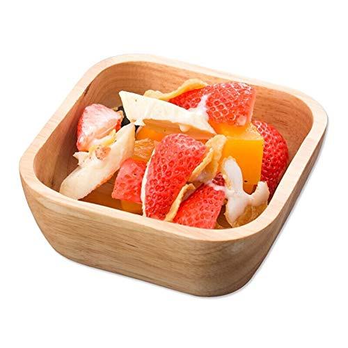 ZH Salade/Céréale/Soupe/Bol à fruits Carré pratique Bois japonais de style créatif 12,5 CM, 15 CM, 18 CM, 21 CM, 24 CM (taille : 12.5CM)