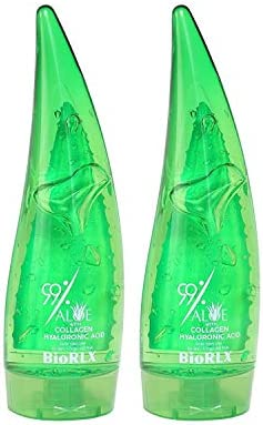 BioRLX 99 Aloe Vera with Collagen and Hyaluronic Acid Aloe Vera Gel for Face Anti Aging Hair product image