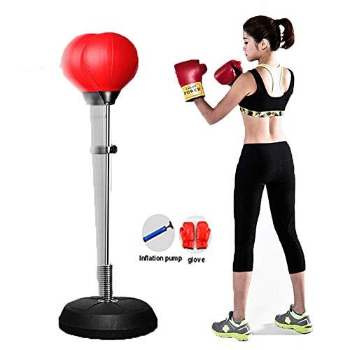 Csheng Punching Ball Boxeo Punching Ball Saco Boxeo Adulto Equipos de Boxeo para el hogar Punchball de Adultos Equipo de Fitness Diadema Golpe Bola Pelota de Boxeo