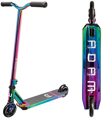 Longway Adam Stunt-Scooter H=81cm Full Neochrome Rainbow Oilslick + Fantic26 Sticker