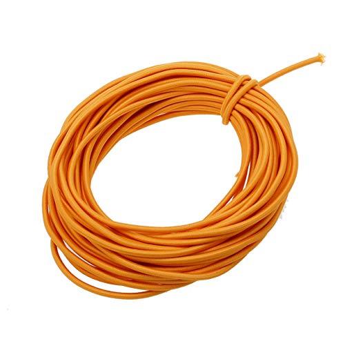 Usew 1/8-Inch (3mm) Orange Heavy Stretch Round String Elastic Cord (Cut of 10 Yards)