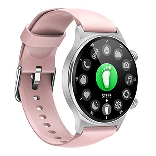 Reloj Inteligente mujer hombre,Smartwatch women,Fitness Smartwatch tracker,resistencia al agua IP67 Oxigeno en Sangre Ritmo cardiaco Monitoreo del Sueño,Podómetro para And(Size:un tamaño,Color:rosado)