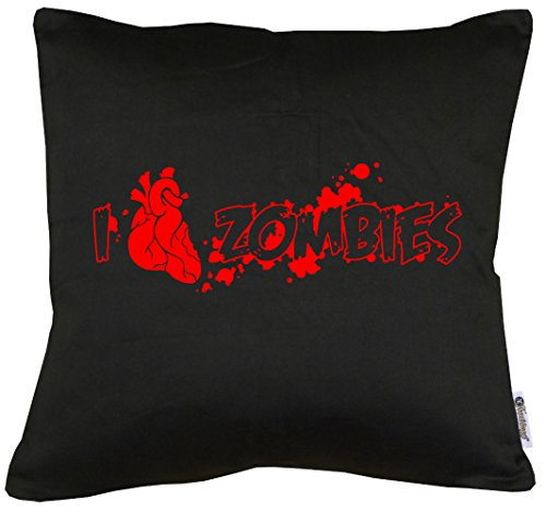 TShirt-People I Love Zombies - Cojín con Relleno (40 x 40 cm)