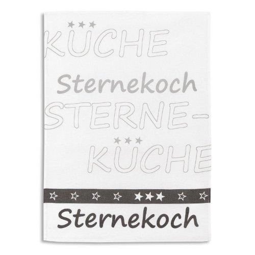 Reduziert: KRACHT - Sternekoch Geschirrtücher aus Halbleinen 2er Pack, Fb. Grau, 50x70 cm