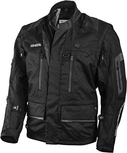 O'Neal | Giacca Motocross | Enduro MX | Materiale esterno idrorepellente, tasche di protezione su schiena, gomiti e spalle | Giacca Baja Racing | Adulto | Nero | Taglia XXL