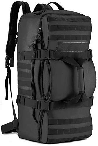 SYMALL 60L Uomo Zaino da Hiking Impermeabile Zaino Trekking Bagaglio a Mano Borsone Duffle Bag Tattico Militare Zaino Assalto per Outdoor Sport Viaggio Escursionismo Backpack Campeggio Alpinismo, Nero