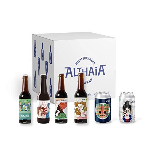 Pack East Coast - Caja 6 unidades - Cervezas Althaia - Cerveza artesana - Premiadas Internacionalmente. Regalos especiales. Craft Beer
