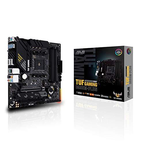 ASUS TUF Gaming B550M-Plus Gaming Mainboard Sockel AM4 (micro ATX, Ryzen, PCIe 4.0, 2x M.2, 2Gbit/s Ethernet, SATA 6Gbit/s, USB 3.2 Gen 2 Typ-A/C, Aura Sync)