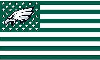 NFL Philadelphia Eagles Stars and Stripes Flag Banner   3X5 FT   USA Flag, White