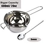 304 Stainless Steel Double Boiler Pot, Melting Pot with Large Serving Spoon for Butter Chocolate...