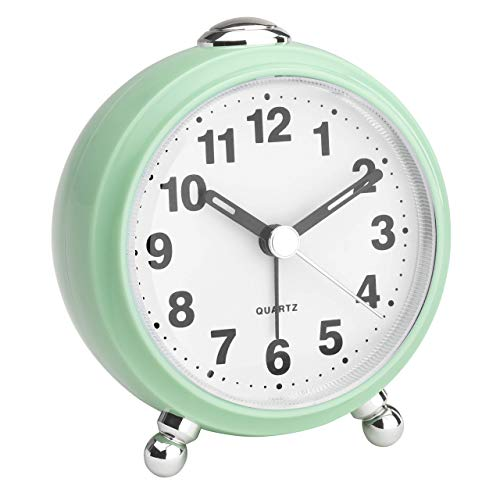 TFA Dostmann - Reloj despertador analógico retro (85 x 60 x 125 mm), color verde