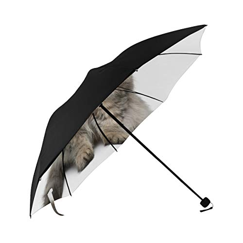 Best Travel Umbrella Cat Wearing Tie Portrait Underside Printing Parasol Umbrella For Kids Sun Umbrella Chair Sun Umbrella For Men With 95 Uv Protection For Women Men Lady Girl