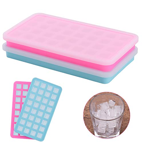 in budget affordable Silicone Ice Cube Mini Ice Cube Tray 2 Pack for Refrigerated Drinks, Whiskey, Cocktails …