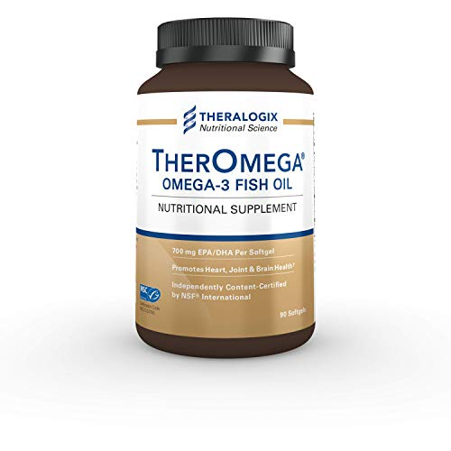 TherOmega Omega-3 Wild Alaskan Fish Oil | 1,000mg Softgels (700mg of EPA & DHA) | Heart, Brain & Joint Support | MSC & IFOS Certified (90 Count)
