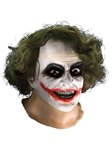 Batman The Dark Knight Adult Joker Latex Mask with Hair, Adult One Size