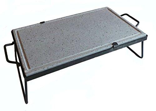 Piastra pietra ollare lavica cottura dietetica 40x30 cm