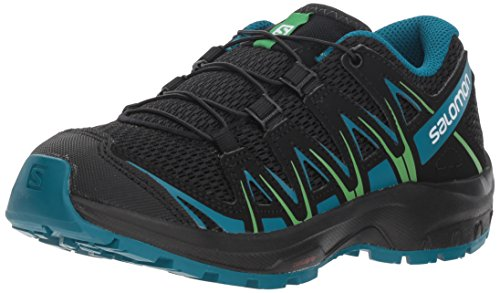 Salomon Kids' XA Pro 3D J Trail Running Shoes, Medieval Blue/Mazarine Blue/Tangelo, 1 Child US