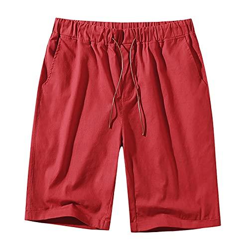 ANGLE Los hombres de la moda pantalones cortos casual jogging gimnasio entrenamiento deportes cargo pantalones cortos verano cordón elástico cintura pantalones cortos playa