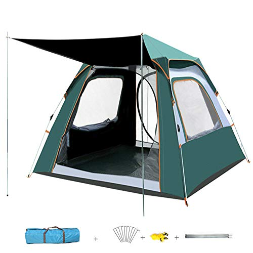 HSART Automatic Tent, Pop Up Tent for Camping, Waterproof Double Layer Lightweight Dome Tents with Door Windows, Large Camping Tents for Family